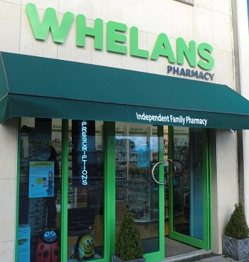 Whelans pharmacy gorey shop front