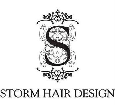 Storm hair design logo