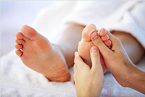 Foot reflexology treatment graphic