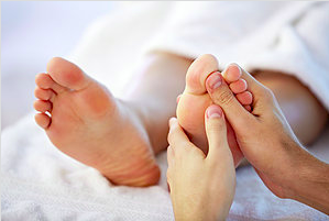 Foot reflexology treatment graphic