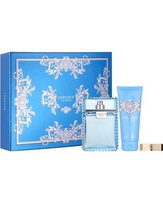 Versace eau fra che man gift set xxv eau de toilette 3 4 oz plus shower gel 3 4 oz plus money clip