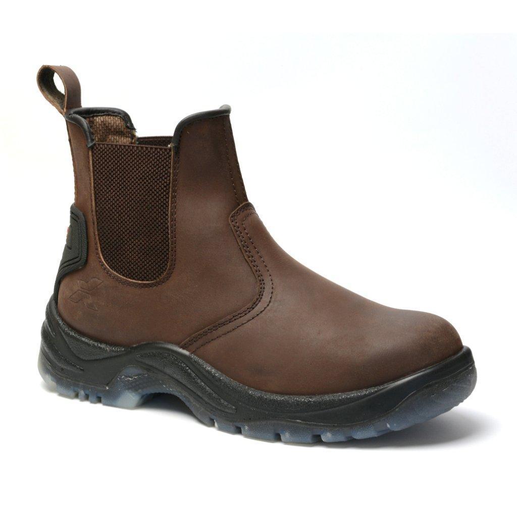 Xpert defiant safety dealer boot brown