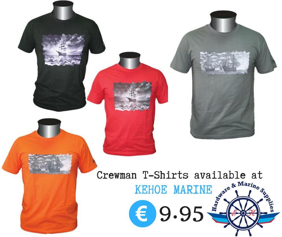 Crewman t shirts available at